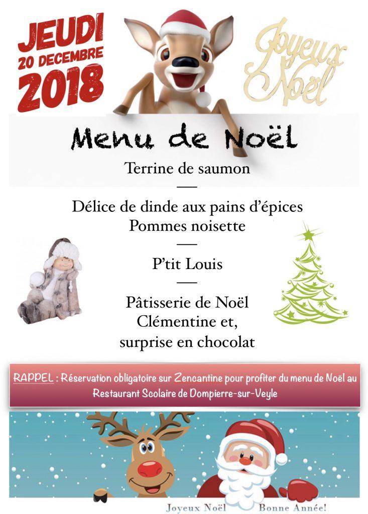 Un Bon Menu De Noel.Menu De Noel Jeudi 20 Decembre Commune De Dompierre Sur