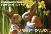 Menus Restaurant Scolaire Avril 2019