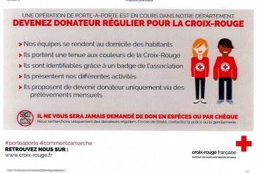 Campagne de porte à porte Croix-Rouge française