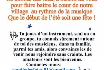21 juin 2019 fête de la musique organisée par le Comité des Fêtes