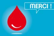 Don de sang jeudi 6 août salle des fêtes de Lent