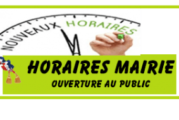 Horaires ouverture mairie